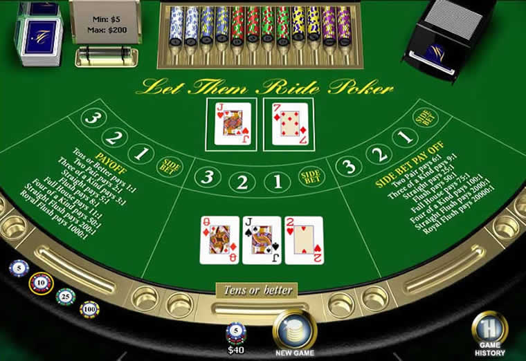 3 card poker payout table